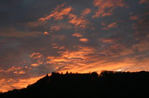 Sunset over St Cyres