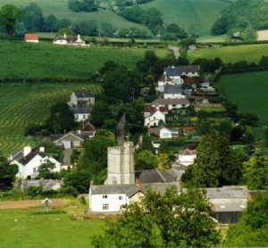 Ariel View of Combe Raleigh