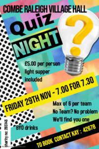 Quiz Night @ Combe Raleigh Village Hall
