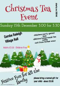 Christmas Tea @ Combe Raleigh Village Hall