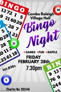 Bingo Night @ Combe Raleigh Village Hall